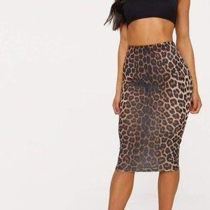 Bodycon High Waist Animal Print Pencil Skirt